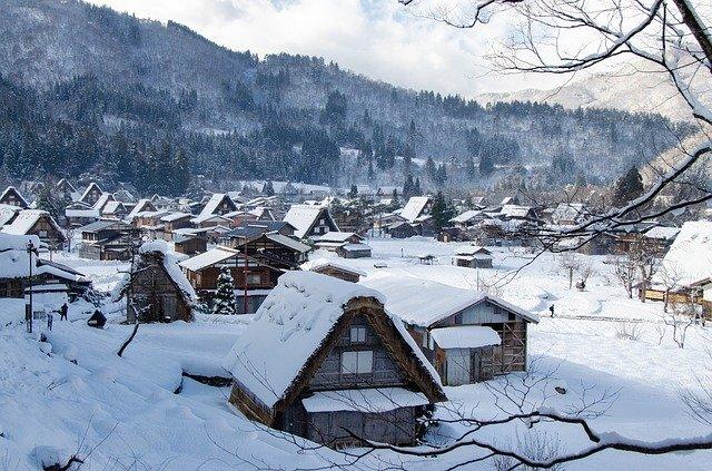zimní vesnice