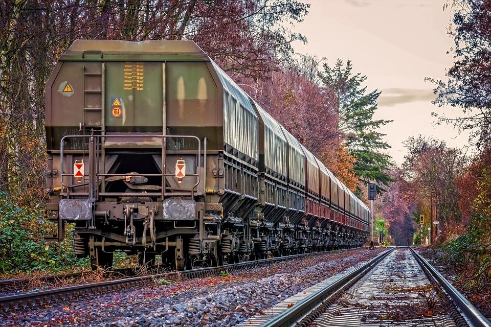 vagony na kolejích